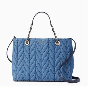 """TWICE a """"HOST PICK"""" Kate Spade Quilted Denim Tote"""